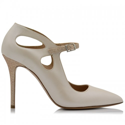 Pumps Ivory Leather