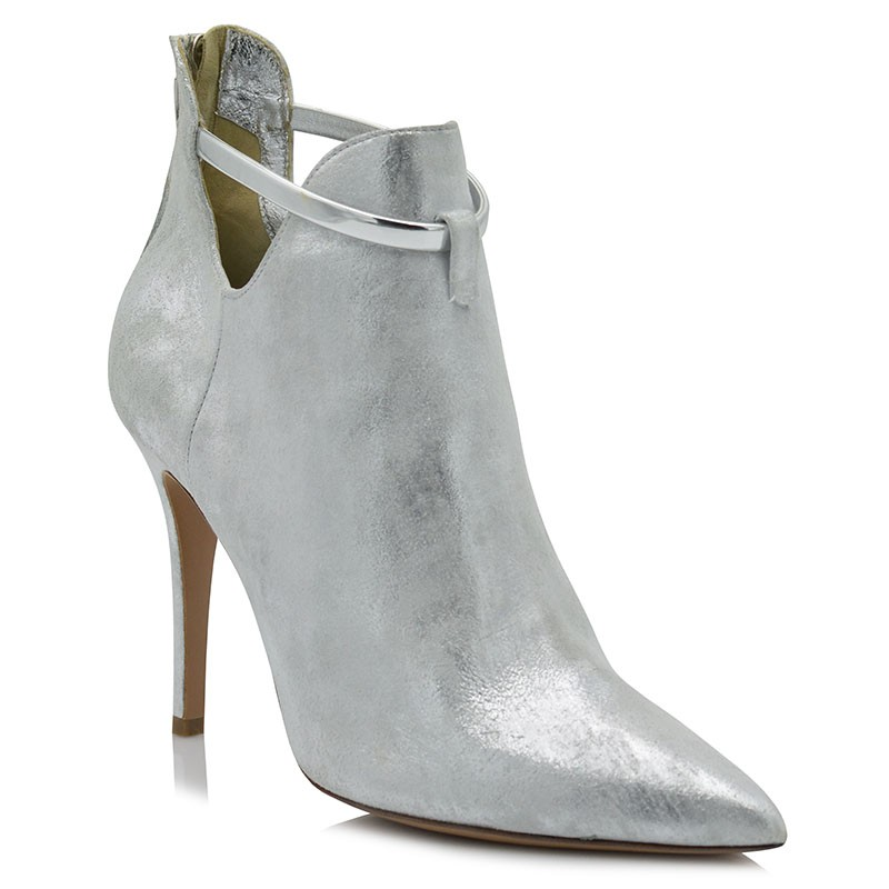 Boots Silver Leather