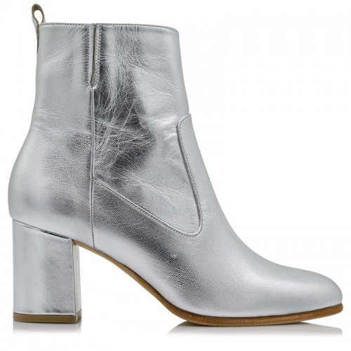 Booties BILERO Silver Leather