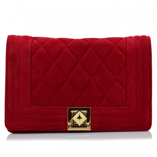 Red Suede Leather Bags