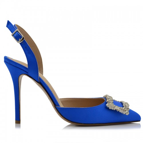 Pumps Blue Satin