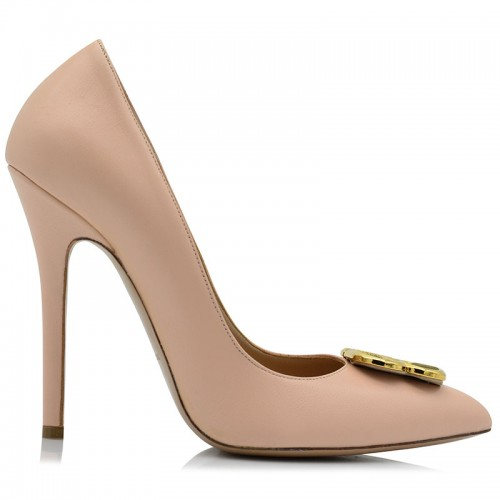 Pink Leather Pumps BILERO