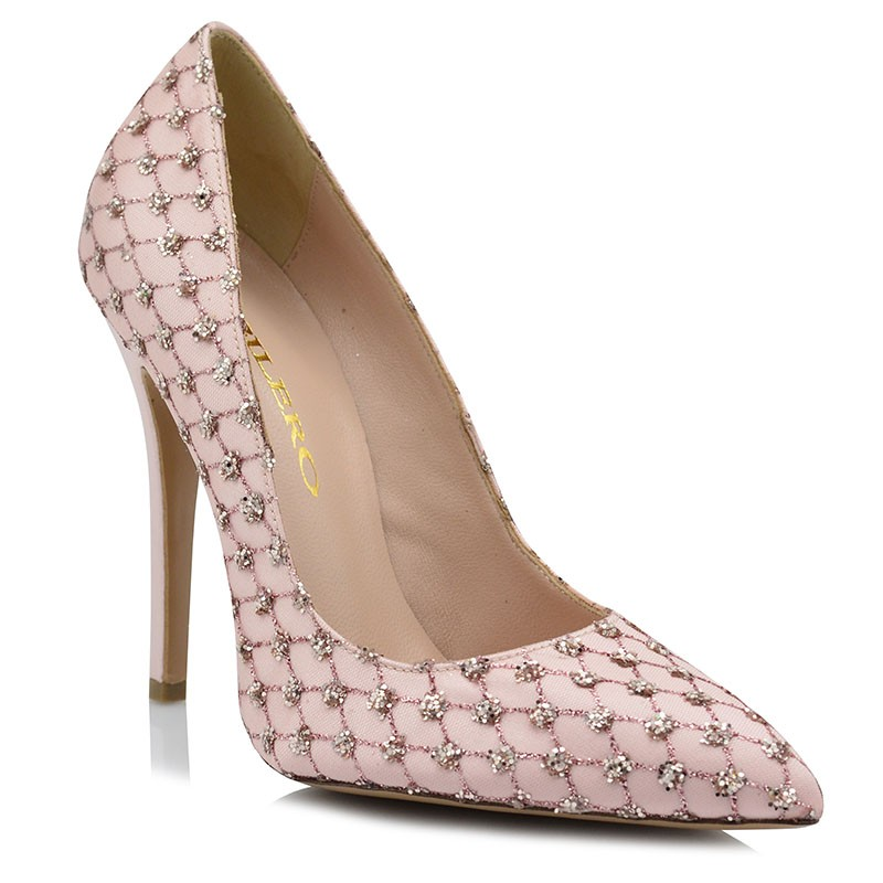 Pink Satin Bridal Pumps