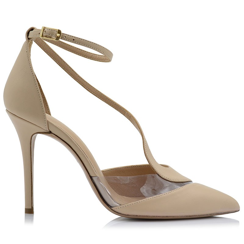 Nude Leather Pumps