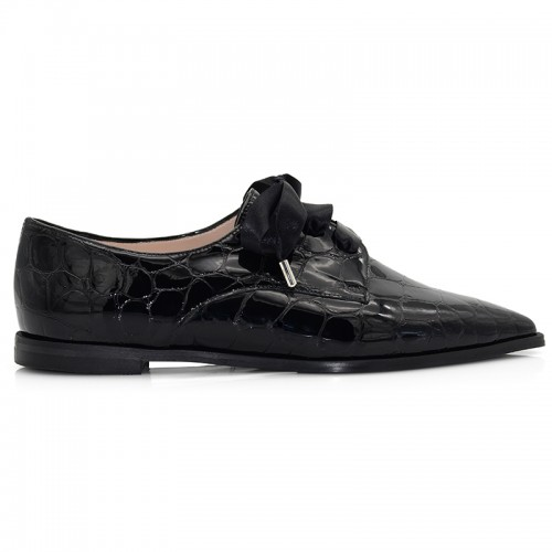 Black Leather Patent Oxford