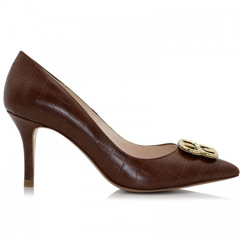 Brown Leather Pumps