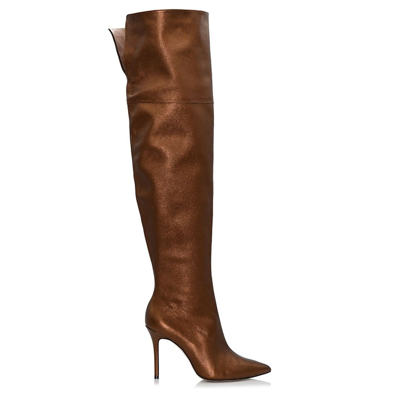Bronze Leather Boots