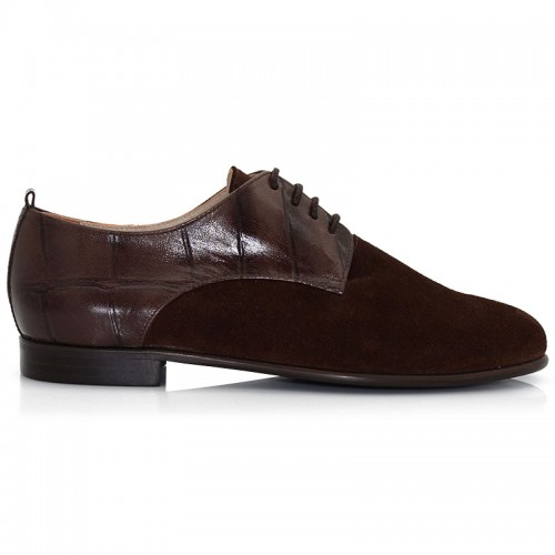 Camel Leather Suede Oxford