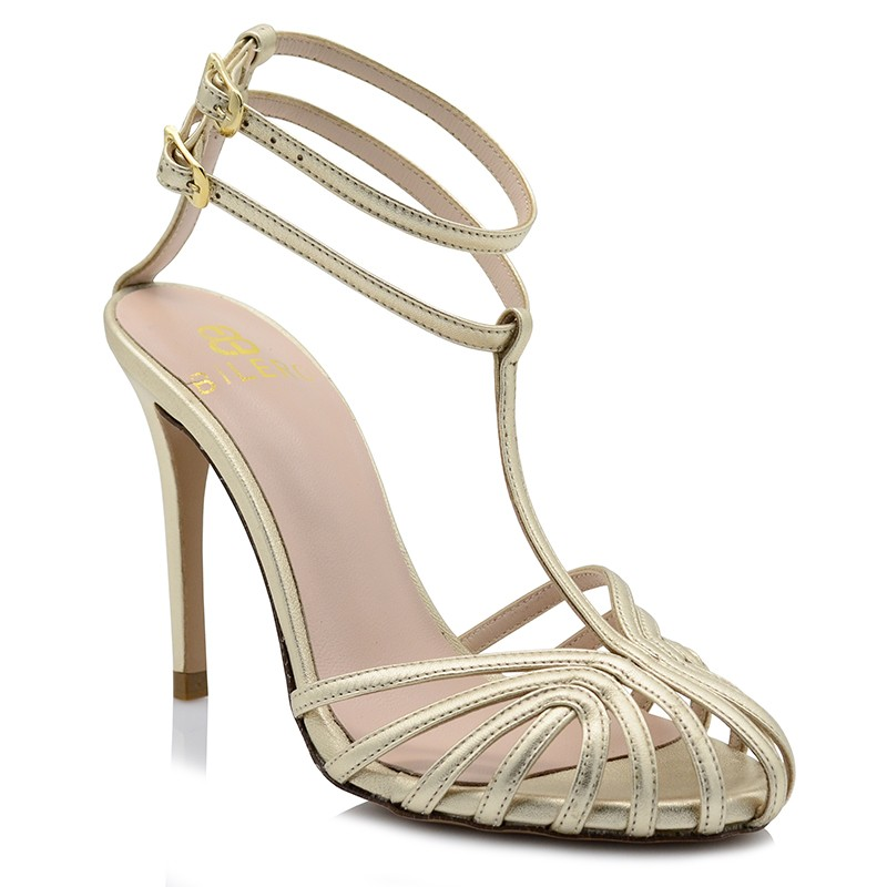Gold Leather Sandals