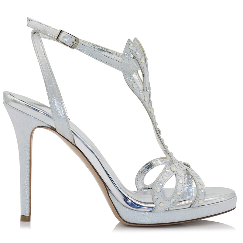 Silver Leather Sandals
