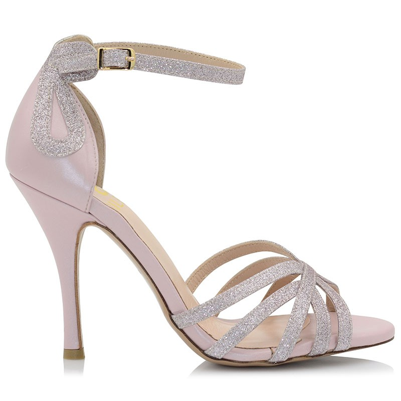 Pink Leather Sandals
