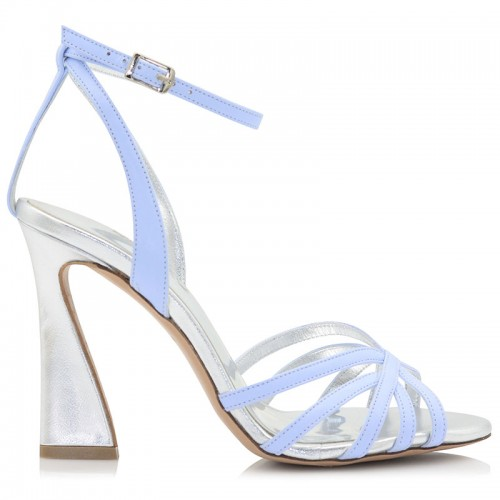 Light Blue Leather Sandals