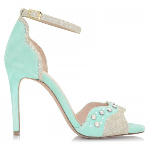 Mint Leather Sandals