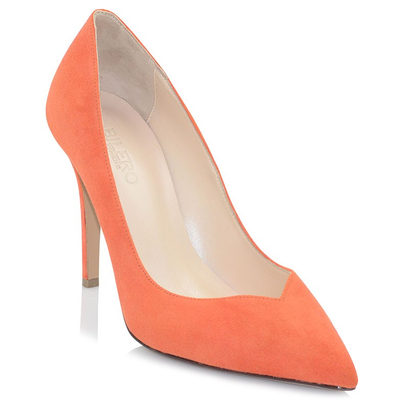 Coral Leather Pumps