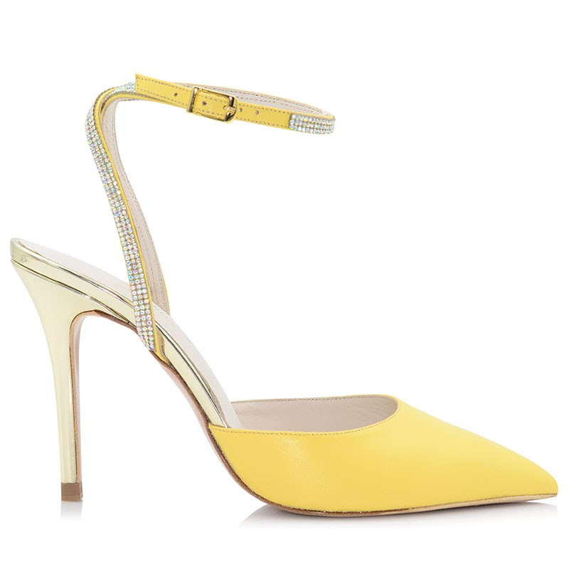 Yellow Leather Pumps