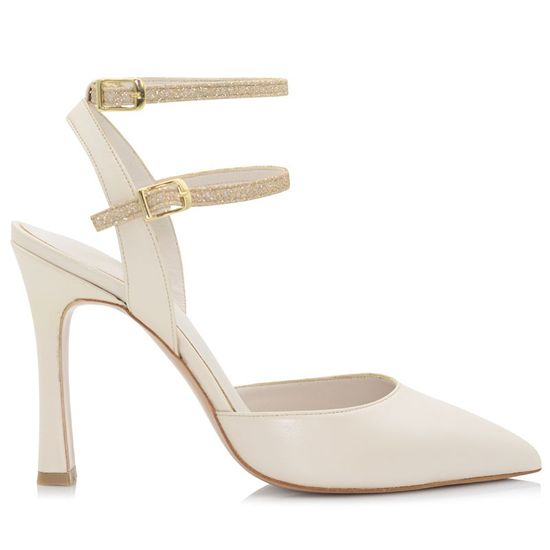 Ivory Leather Pumps