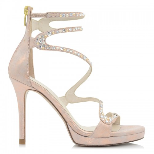 Copper Leather Sandals