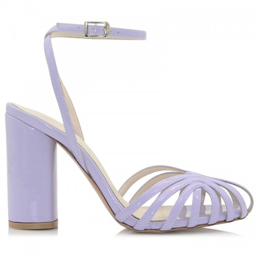 Lilac Leather Sandals