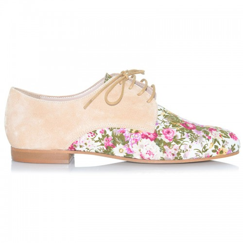 Floral Leather Oxford