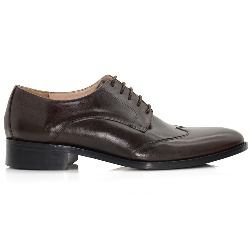 Brown Leather Men Shoes
